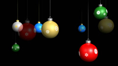 Looping Christmas ornaments with alpha channel included. Stock Footage