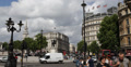 Ultra HD 4K Trafalgar Square London Double Decker Bus Taxi Passing Traffic Light Footage