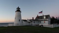Pemaquid Lighthouse at daybreak. Stock Footage