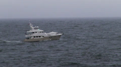 Yacht in the stormy Atlantic ocean. Stock Footage