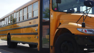 Stock Video Footage of Kids getting off bus, walking to school