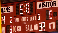 Stock Video Footage of High school score board counting down - with buzzer sound