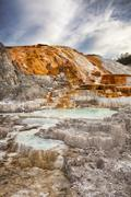 palette spring in yellowstone - stock photo