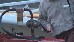 Glider Tug ReFuel04 DNxHD Stock Footage