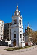 church of the great martyr george the victorious on pskov hill in moscow - stock photo