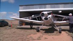 Glider Tug Hanger03 DNxHD Stock Footage