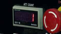 Number 2 shown on control panel display Stock Footage