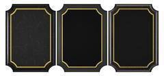 black marble and plastic plaque collection - stock photo