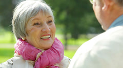 Elderly lady Stock Footage
