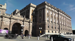 Parliament of Sweden Stockholm 11 Stock Footage