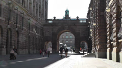 Parliament of Sweden Stockholm 17 Stock Footage