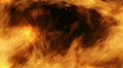 Engulfing fire transition  Stock Footage