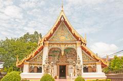 wat sri khun muang in chiang khan ,loei, thailand - stock photo