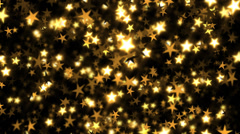 Shiny gold stars - continuous loop. Stock Footage