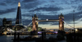 Ultra HD 4K Illuminated Famous Tower Bridge, London Skyline, Shard Thames River 4k or 4k+ Resolution