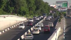 Busy ring road in Tashkent, Uzbekistan Stock Footage
