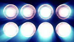 Spotlights And Lens Bulb 7 Stock Footage