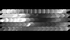 Metallic geometric iron steel transition - Alpha Channel 1080p Stock Footage