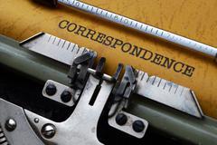 correspondence concept - stock photo