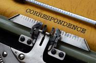 Stock Photo of correspondence concept