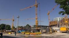 Building site in Tashkent, Uzbekistan Stock Footage