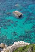 Beautiful turquoise waters of the mediterranean sea, Corsica Stock Photos