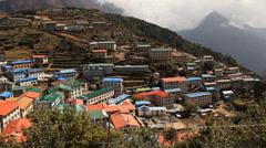 Namche Bazar Himalayas Stock Footage