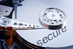 Secure hard disk Stock Photos