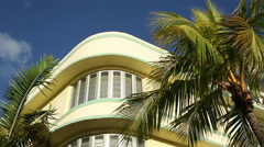 A Yellow building in miami Stock Footage
