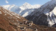 Trekking in Himalayas Stock Footage
