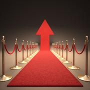 Rising Fame Stock Illustration