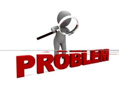 Problem character means difficulty dispute or trouble Stock Illustration