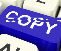 copy keys mean duplicate copying or replicate. - stock illustration