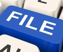 File key means filing or data files. Stock Illustration