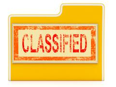 classified file shows private documents or papers - stock illustration