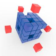 incomplete puzzle showing finishing or completion - stock illustration