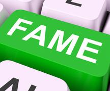 Fame keys mean renowned or popular. Stock Illustration