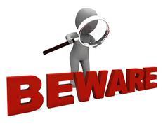 Varokaa merkki tarkoittaa varovaisuutta vaarallista tai varoitus Piirros