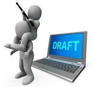 Luonnos merkkiä kannettavan näytä ääriviivat sähköpostitse tai kirjeitse verkoss Piirros