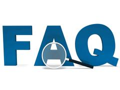 faq word shows faqs advice or frequently asked questions - stock illustration