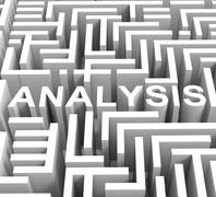 Analysis word shows investigation or research Stock Illustration