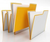 files shows organising and paperwork - stock illustration