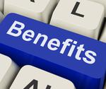 Stock Illustration of benefits key means advantage or reward.
