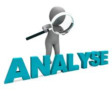 Analyse character shows investigation analysis or analyzing Stock Illustration