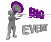 Big event character shows celebration occasion festival and performance Stock Illustration
