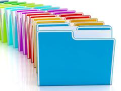 folders showing organising and reports - stock illustration
