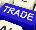 Stock Illustration of trade key shows online buying and selling