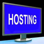 Hosting shows web internet or website domain Stock Illustration
