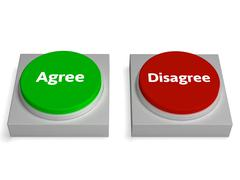 Agree disagree buttons shows agreement Stock Illustration