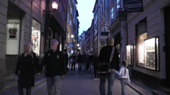Stockholm Gamla Stan 26 evening Stock Footage